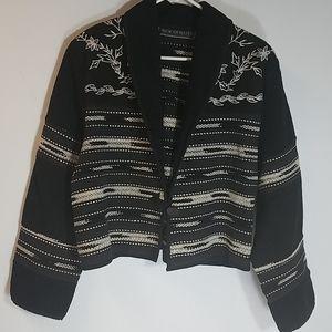 New Identity Boxy Southwest Tribal weave jacket